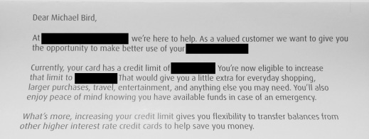 BMO Credit Card Letter 2